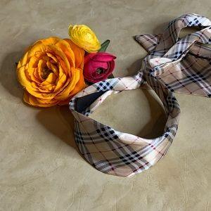 Accessories - Plaid Headband with Bottom Tie